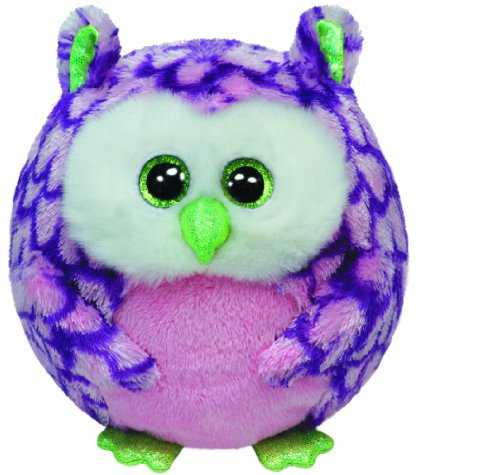 Ty Beanie Ballz Ozzy Pink Owl Regular Plush - 1