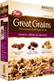 Post Great Grains Raisins Dates Pecans Cereal, 40.5-Ounce Box