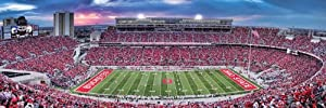 Buy MasterPieces Puzzle Company NCAA Ohio State Buckeyes Stadium Panoramic Jigsaw Puzzle (1000-Piece) by MasterPieces Puzzle Company