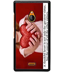 ColourCraft Love Quote with Image Design Back Case Cover for NOKIA XL