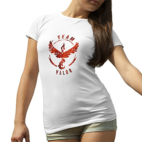 Team-Valor-Pokemon-Go-Cool-Blur-Logo-T-Shirt-camiseta-para-la-Mujer