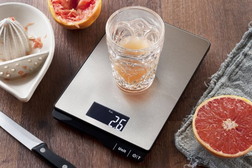 Digital Kitchen Food Scale | Portable 11 Lb Capacity Food Scale Measures Grams, Pounds & Ounces Glass Platform Kitchen Scale | by MIRA (Butcher Coffee Cup compare prices)