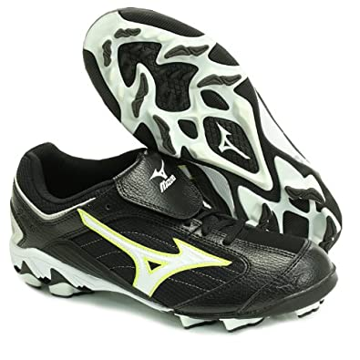 Buy FINCH BY MIZUNO ADULT CLEATS Ladies SOFTBALL CLEATS BLACK WHITE YELLOW 6.5M by Mizuno