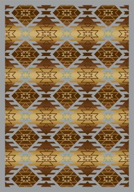 Joy Carpets Kaleidoscope Canyon Ridge Whimsical Area Rugs, 92-Inch by 129-Inch by 0.36-Inch, Copper Canyon