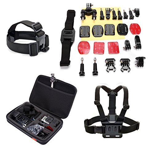 Masione™ Go Pro Accessory Kit Ultimate Combo Kit 26 Accessories For Gopro Hero3+,Gopro Hero3,Gopro Hero2 And Gopro Hero Cameras