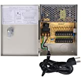 VideoSecu Key Lock 9 Channel Output 12 V DC CCTV Distributed Power Supply Box for Security Camera WK9