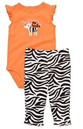 Carter\'s Zebra Bodysuit and Zebra Striped Pants Set - Baby