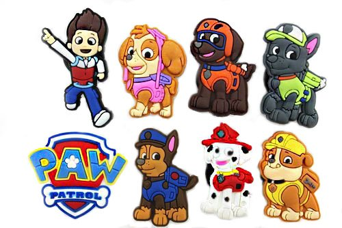 Best Price 8pcs Puppy Power! (Paw Patrol)shoe Charms for Jibbitz Croc Shoes & Wristband Bracelet