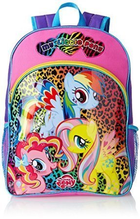 FAB Starpoint Little Girls' My Little Pony Animal Print 16 Inch Backpack by USA