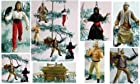 Unique Set of 6 Indiana Jones Christmas Tree Ornaments Featuring Indiana Jones, Marion Ravenwood, Sallah, German Mechanic, Cairo Swordsman Ornaments - Unique Shatter Proof Design - Great for Kids