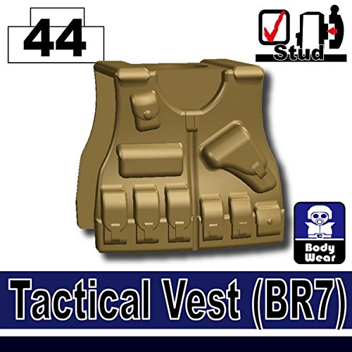 BR7 Tactical Vest (Dark Tan) - Custom Minifigure Piece mac splash and last pro longwear powder устойчивая компактная пудра dark tan