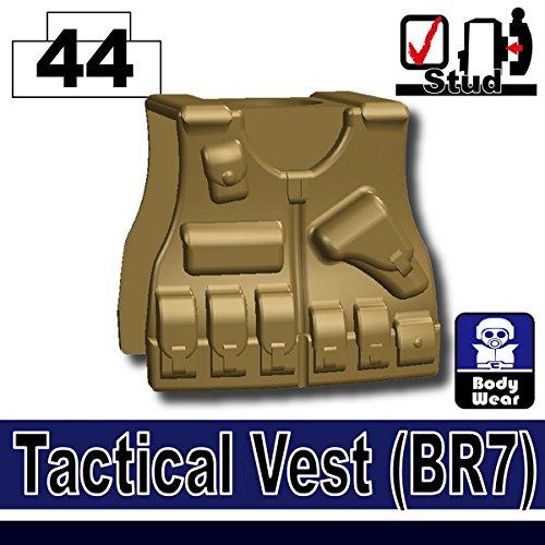 BR7 Tactical Vest (Dark Tan) - Custom Minifigure Piece 2017 colete tatico loja artigos militares airsoft tactical vest leapers 099 law enforcement molle tactical vest swat schutzweste