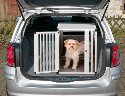 PKW Alu - Auto Hundebox - Alu Autobox - Hundebox Aluminium-Transportbox Hundekäfig Hundegitter Sicherheitsbox fürs Auto