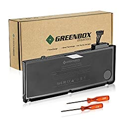 GreenBox New Laptop Replacement Battery for A1278 A1322 [Apple MacBook Pro 13 inch] - (Mid 2009, Mid 2010, Early 2011, Late 2011, Mid 2012), fit MB990LL/A MC724LL/A - [Li-Polymer 6-cell 63.5Wh]