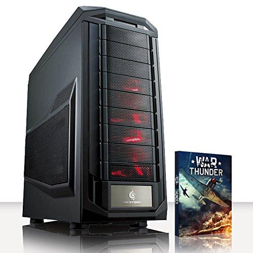 VIBOX Super Sonic -Turbo 10 - Extreme Leistung, Gamer, Gaming PC, Ultimative Spec, Desktop PC USB3.0 Computer mit WarThunder Spiel Bundle einschließlich Windows 10 PLUS eine lebenslange Garantie* (Neu 4.4GHz Intel, I5 6600K Schnell Quad-Core, Skylake, Erweiterte, Prozessor, 2 GB nVidia Geforce GTX 960 Grafikkarte, 120GB SSD Solid-State-Laufwerk, Große 2TB Festplatte, Corsair CX750M PSU, Corsair H80i Wasser CPU Kühler, Z170 SKT1151 Motherboard, Blu -Ray ROM, 32 GB 2800MHz RAM)