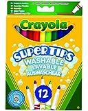 Crayola 12 Supertips Washable Marker Pens