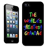 Fancy A Snuggle The World's Greatest Grandad Fathers Day Birthday Clip On Back Cover Hard Case for Apple iPhone 5