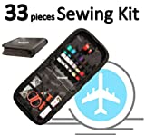 Travel Sewing Kit Complete 32 Piece Sewing Kit in Zipped Carry Case