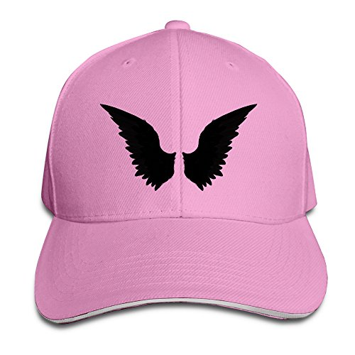 the-black-angel-unisex-100-cotton-adjustable-baseball-hat-pink-one-size