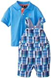 Nautica Baby-Boys Infant 2 Piece Overall Polo Set