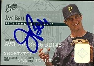 Jay Bell autographed Baseball Card (Pittsburgh Pirates) 1995 Donruss Studio #119