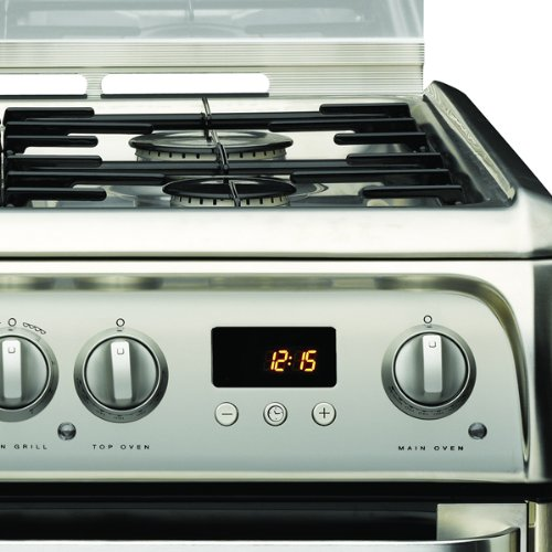 Hotpoint HUD61XS Cooker Freestanding Dual Fuel Double Stainless Steel