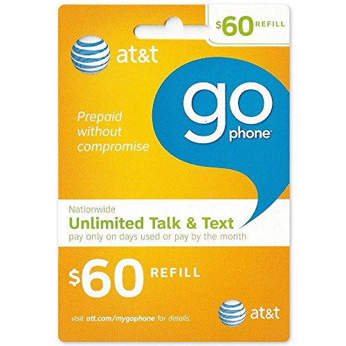 $60 At&T Go Phone Refill Card