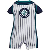 MLB Majestic Seattle Mariners Newborn Pinstripe Romper - White (6-9 Months) at Amazon.com