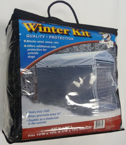 Lucky Dog Windscreen Shade and Winter Kit for Lucky Dog Kennels, 57 -Inches High by 24-Feet Long