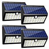 InnoGear Solar Lights Outdoor, 30 LED Motion Sensor Security Night Light with Auto on and Off for Front Door Back Yard Driveway Garden Patio Garage, Pack of 4 (Color: Black, Tamaño: Large)