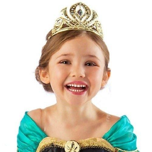 アナと雪の女王 Frozen アナ Ana アドベンチャードレスティアラ プリンセスドレス ティアラ 子供用ティアラ コスプレ衣装 発表会 (ゴールド)