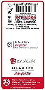 Natural Flea & Tick Shampoo Bar for Dogs & Cats with Rich Lather | Kills & Repels Fleas | Soothes Itching, Scratching, Dryness, Dandruff & Damaged Skin | 4.3oz Eco-Friendly Bar with No Plastic Waste by Wondercide Natural Products