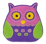 Cuckoo Clock Buho Cojin - Ganz Kids Soft & Peluche Buho Cojin (Purple & Pink)