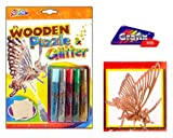 (Grafix) Wooden Puzzle & Glitter Kit (Butterfly)