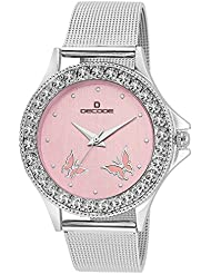 Decode Ladies Crystal Studded-LR030 Pink Pink Diamond Collection Watch For Women/Girls