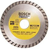Bosch DB4542 Premium Plus 4-1/2-Inch Dry Cutting Turbo Continuous Rim Diamond Saw Blade with 7/8-Inch Arbor for Masonry
