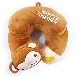 Animal Neck Pillow For Adults : Amazon.com: Cute Car Travel Cartoon Animal Plush Neck U-shaped Pillow Support Head Protector for ...