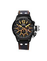 TW Steel Men's CE1029 CEO Canteen Black Leather Chronograph Dial Watch