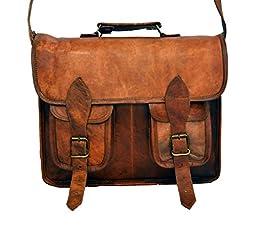 Vintage Leather Handbag Computer Crossbody Messenger Bag for Men and for Women