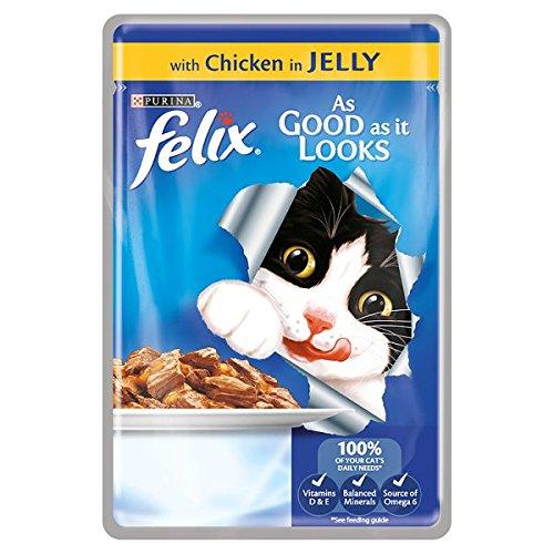 Felix As Good as It Looks de poulet en gelée 100g (Pack de 20 x 100g)