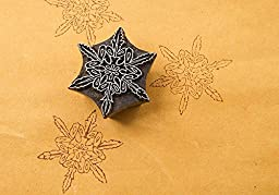 Blockwallah Star Snowflake Wooden Block Stamp