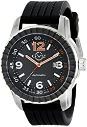 "GV2 by Gevril Men's 9303 ""Lucky 7"" Stainless Steel Automatic Watch with Black Rubber Band"