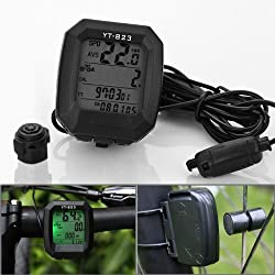 24 Multi Functions Digital Glow Light LCD Display Cycle Computer Bicycle Speedometer Speedo Odometer Speed Set - Black from Bike Computer Speedo Odometer
