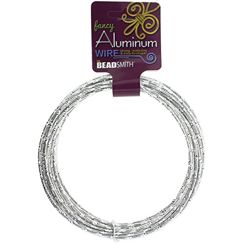 Aluminum Wire Diamond Cut 12 Gauge 12 Meter/Pkg (39.25')-Silver (Cut Wire compare prices)