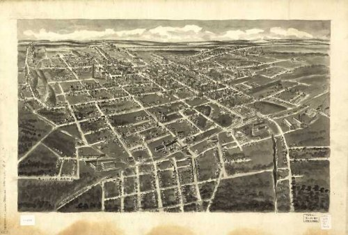 Bird's-eye-view of Statesville, North Carolina, by A. E. Downs