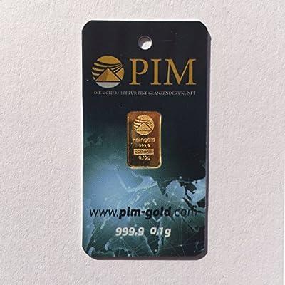 Pim Goldbarren 0,10 Gramm Nadir Goldbarren 0,1g, Feingehalt 999,9 LBMA Zert. Neu Edition