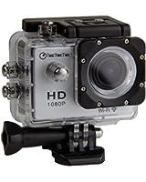 [Nouvelle Version] TecTecTec!® XPRO1 Caméra de Sport et Action Wi-Fi Haute Définition Full HD 1080p avec Caméscope HD Vidéo de 12 Mégapixels - Action cam avec grand angle 170 degrés - Commande à distance via Wi-Fi (Couleur argent)