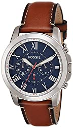 Fossil Grant Chronograph Blue Dial Mens Watch - FS5210I