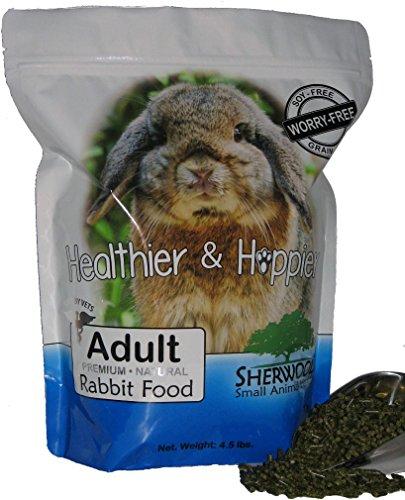 Sherwood-Adult-Rabbit-Food-Timothy-blend-Grain-Soy-Free-45-lb-Vet-Used