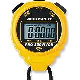 Cronómetro profesional ACCUSPLIT Pro Survivor - A601X pantalla extra grande, color amarillo.